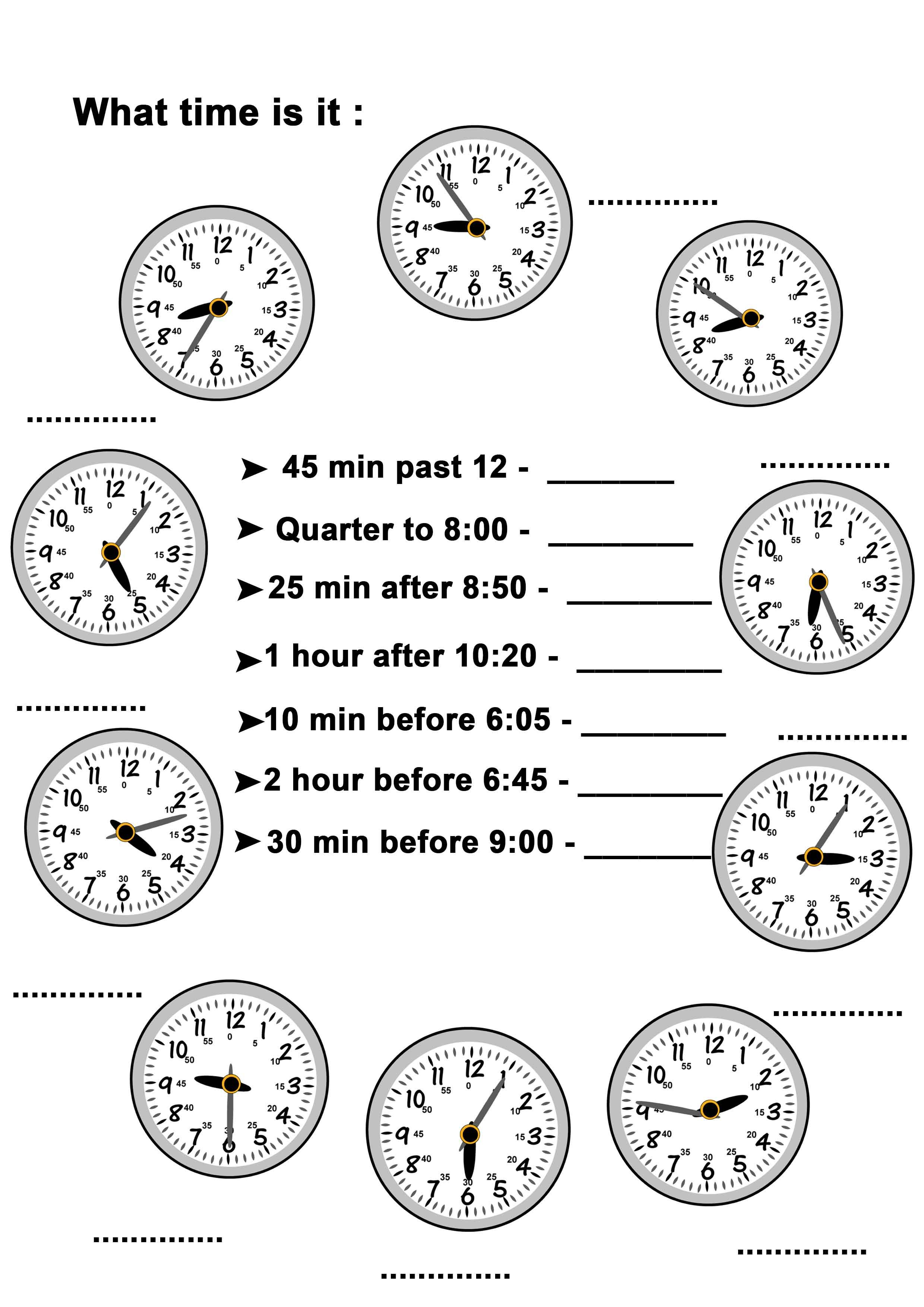 Worksheets Funlearning Timetelling Edwayz Learning