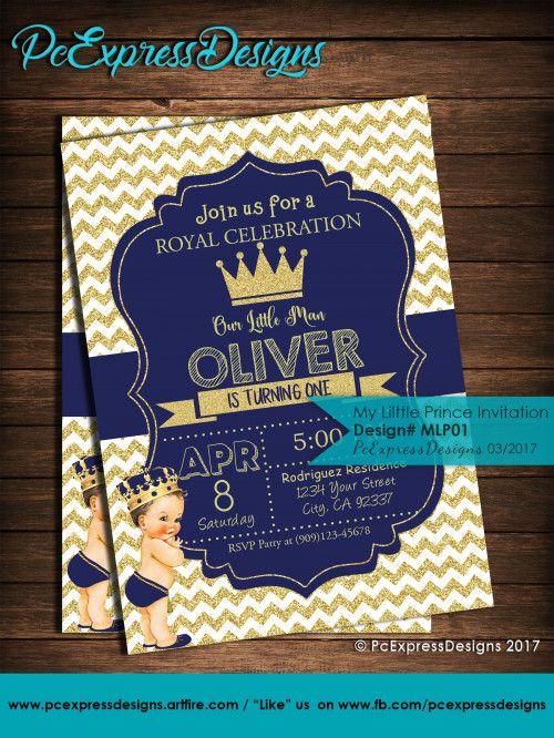 my little prince invitation mlp01 boy birthdays pinterest