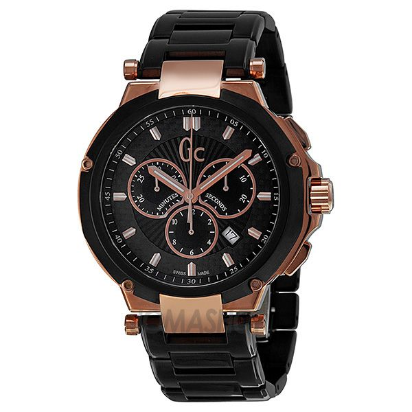 guess collection gc 4 executive chronograph black and rose gold guess collection gc 4 executive chronograph black and rose gold pvd mens watch x66003g2s