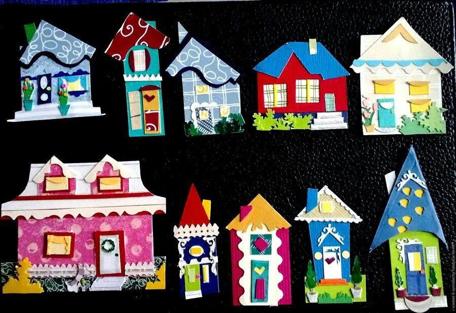 "Little houses 3"" high."