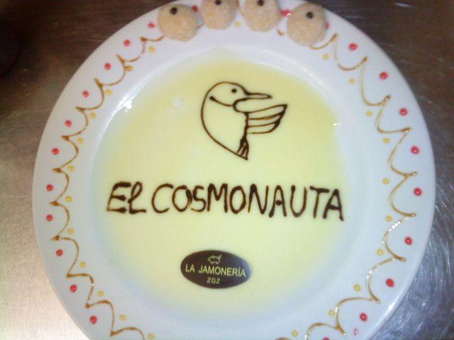 Postre El Cosmonauta en @LaJamoneria #HallOfFame #ArteEfimero #EphemeralArt