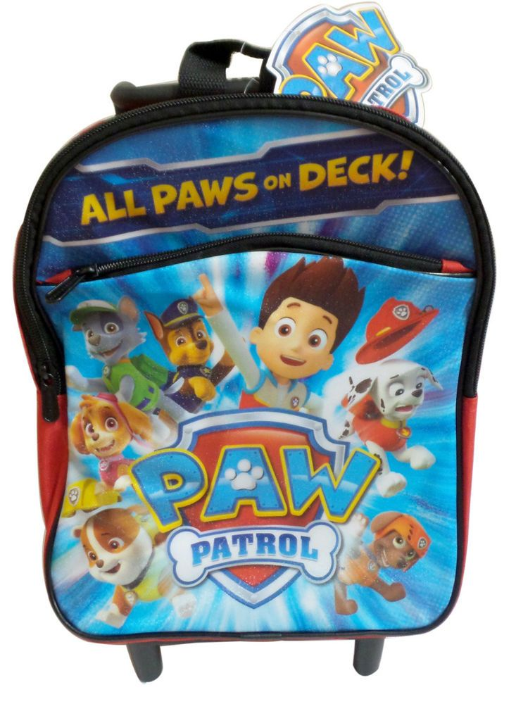 Paw Patrol All Paws On Deck Rolling Boys Backpack Bookbag