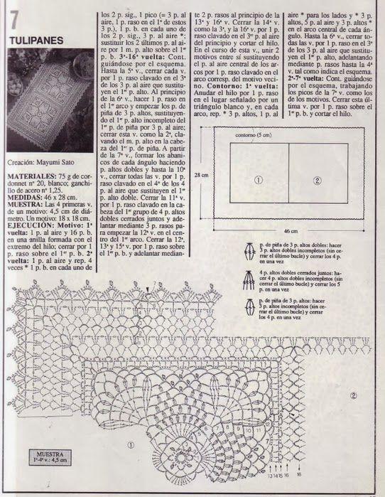 8.jpg (542×699) | Crochet manteles | Pinterest | Mantel, Caminos de ...