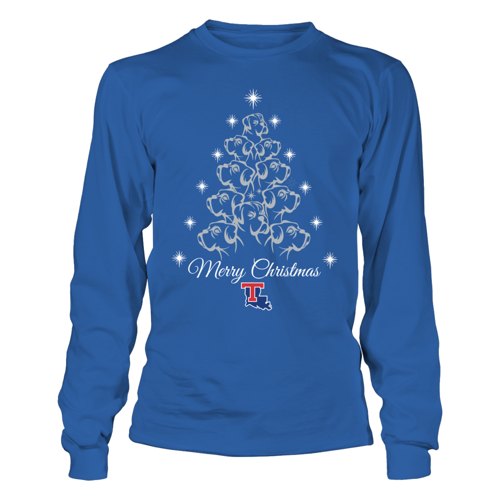 Louisiana Tech Bulldogs Mascot Xmas Tree Bulldog T