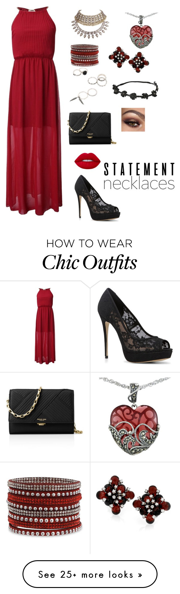 """""""Untitled #531"""" by kylo-ren-is-bae on Polyvore featuring ALDO, Lord & Taylor, Michael Kors, Lime Crime and statementnecklaces"""
