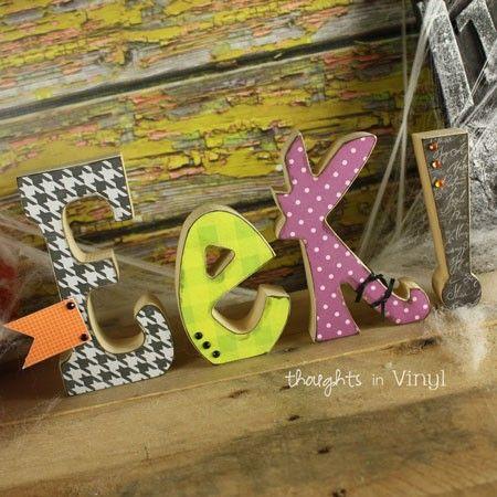 48++ Happy halloween wooden letters ideas in 2021
