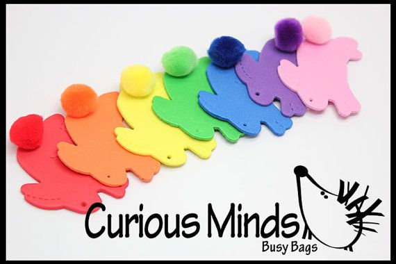 Rabbit Tails   color matching busy bag by CuriousMindsBusyBags