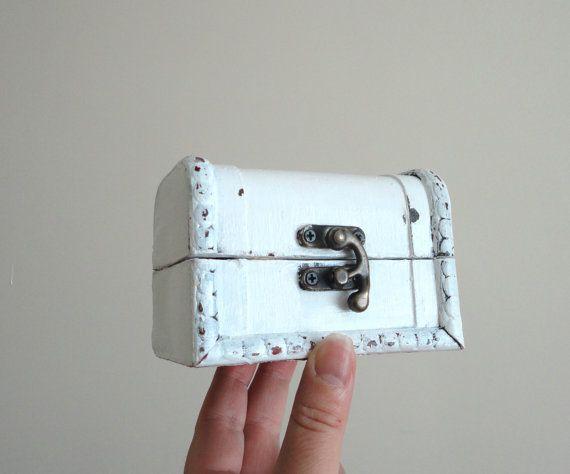 Ring box Wedding ring Shabby Chic box Wooden rings box USB box Small
