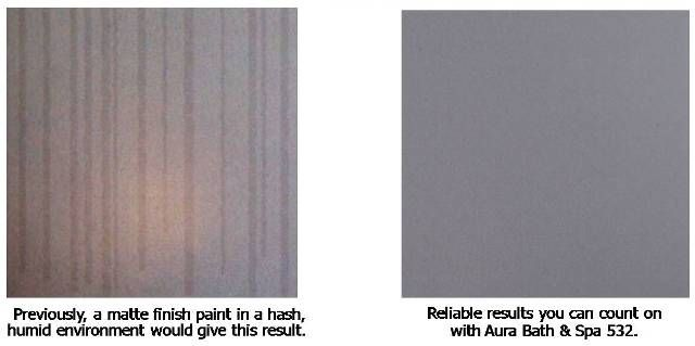 Wall On Left Without Aura Bath Spa And Wall With On The Right Aura Bath Spa Paint By Benjamin Moore Pinterest