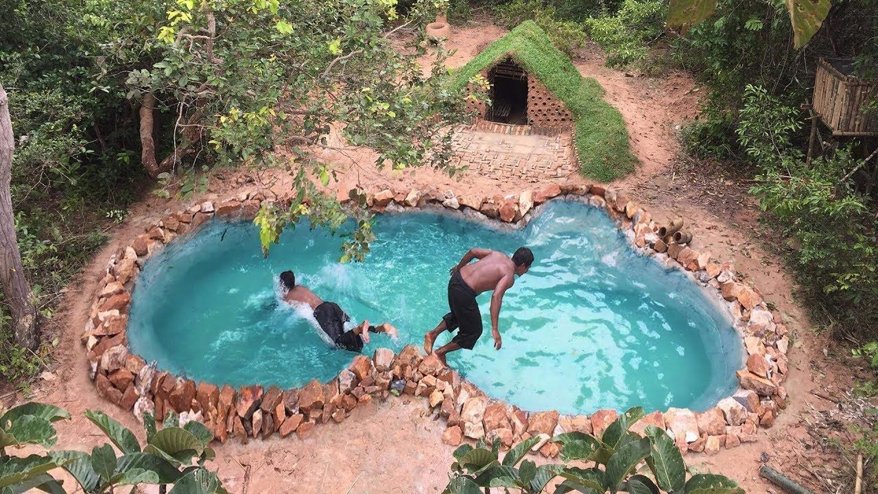 Primitive Technology Build Underground Swimming Pool Underground Swimming Pool Swimming Pools Diy Swimming Pool