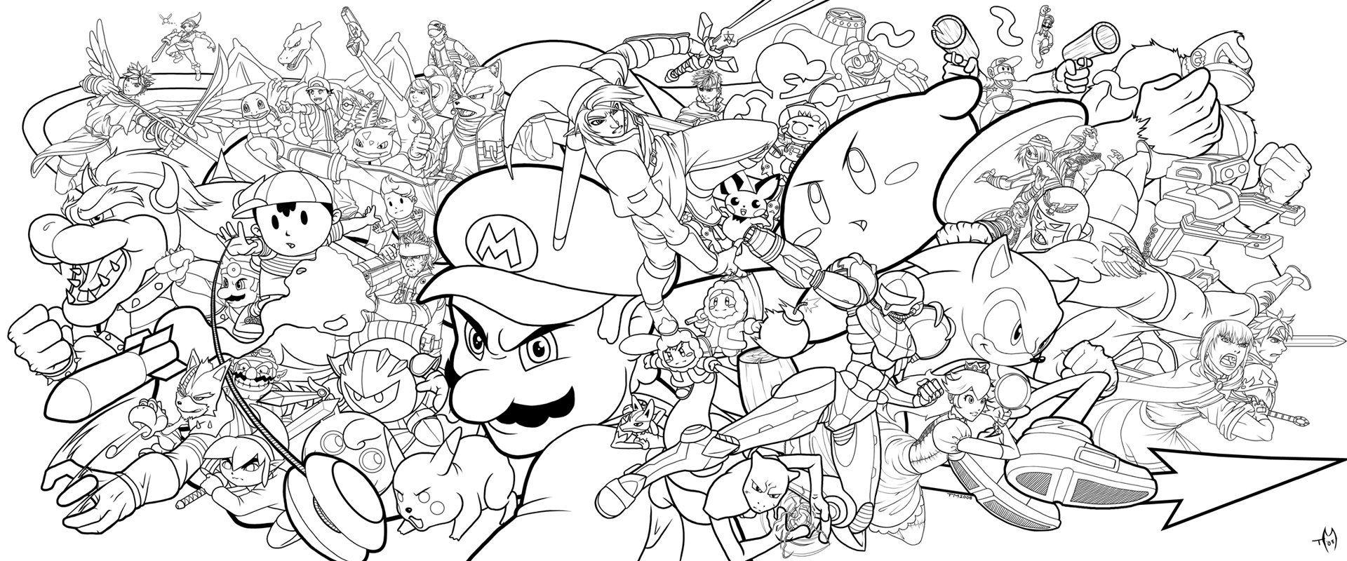 Kleurplaten Super Mario Bros Wii.Super Smash Bros By Zombie Graves On Deviantart Super Smash
