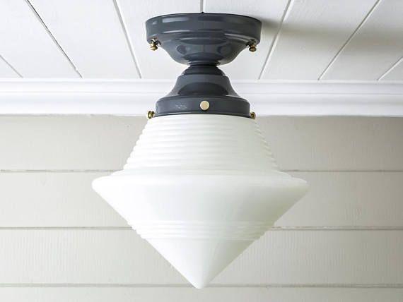 Stunning Vintage Rewired Flush Mount Ceiling Light Fixture Art ...