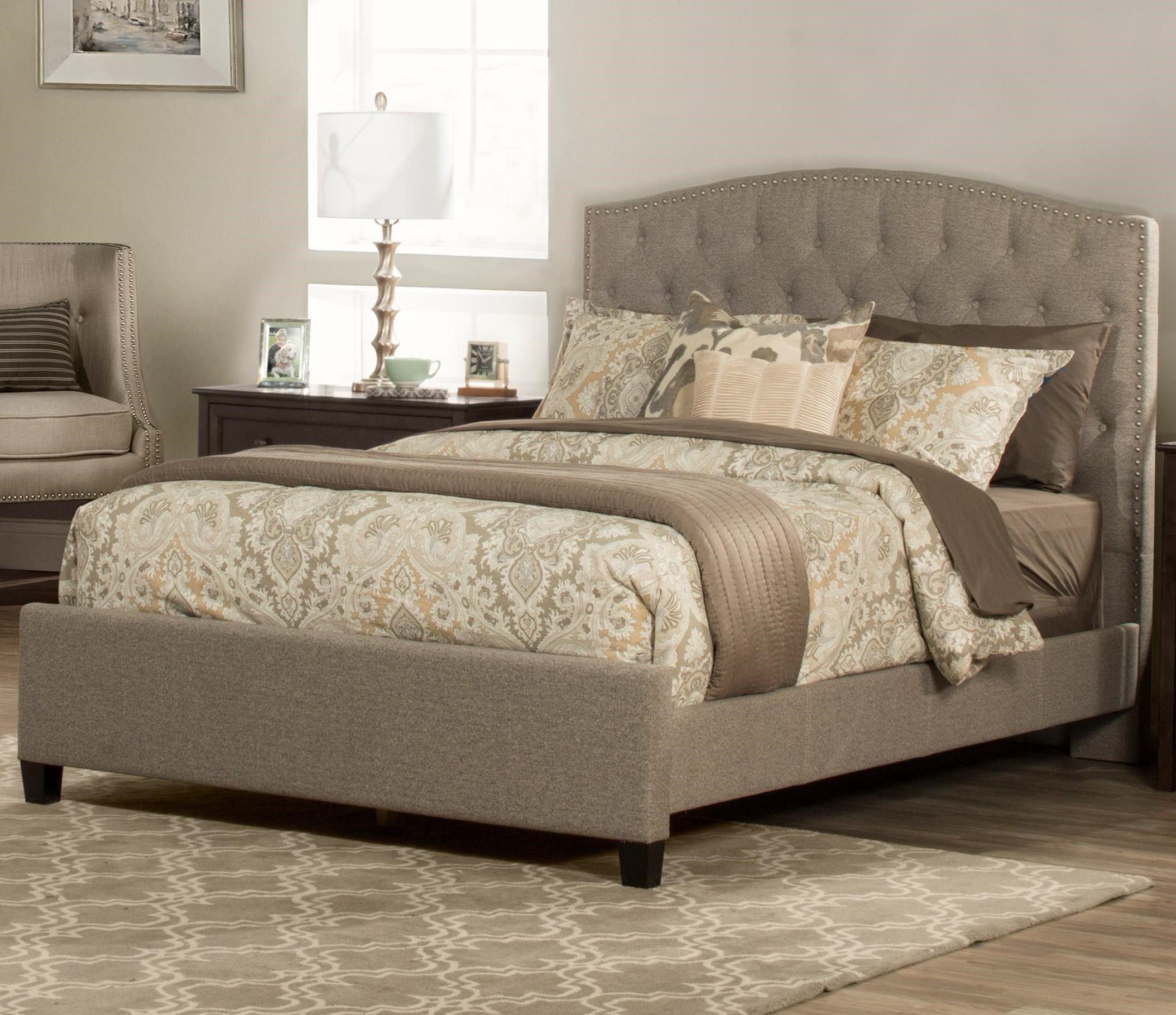 Lila King Upholstered Bed By Hillsdale At Becker Furniture King Upholstered Bed Upholstered Beds Queen Upholstered Bed