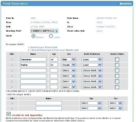 When it comes to Indian railway online booking, you have ample of - reservation forms in pdf