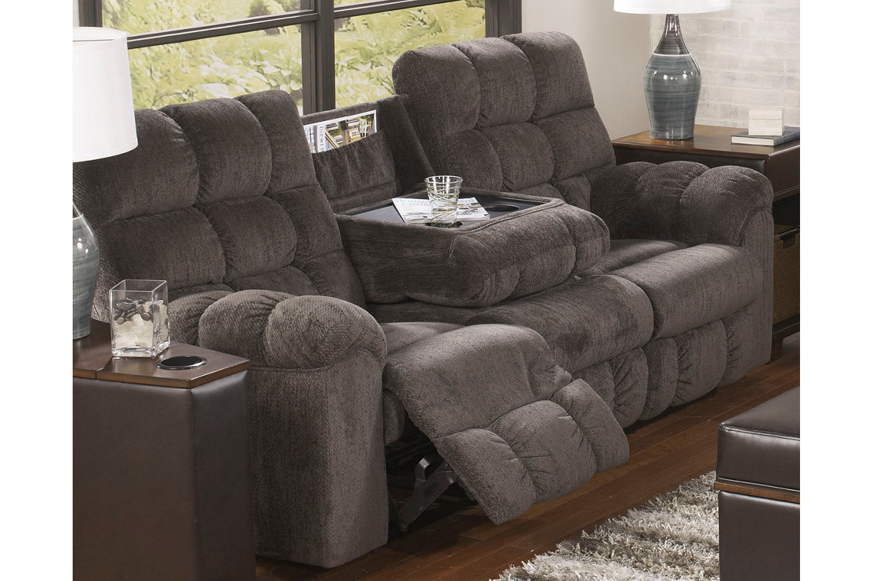 Acieona Reclining Sofa With Drop Down Table Ashley Furniture