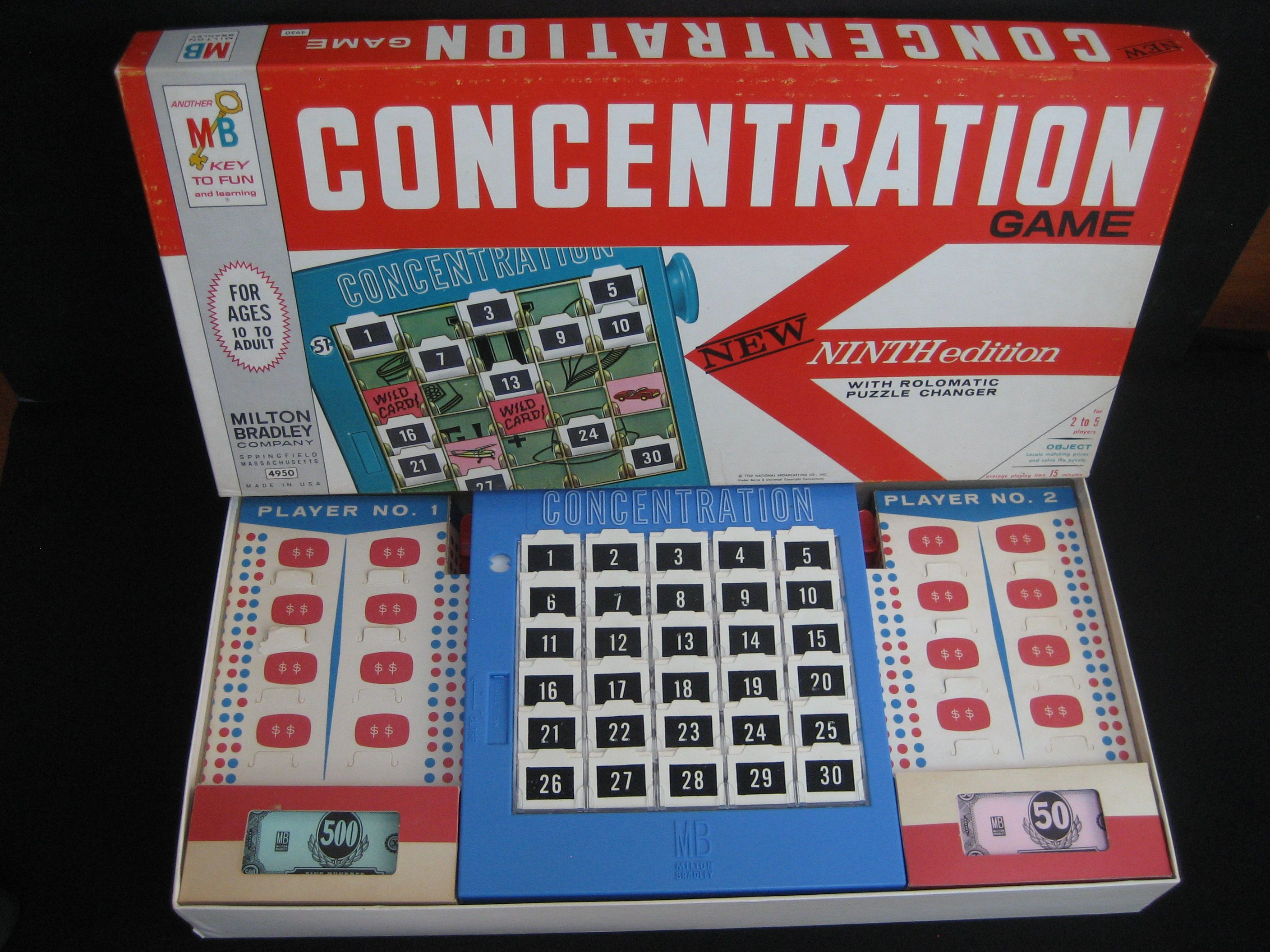 concentration card game online