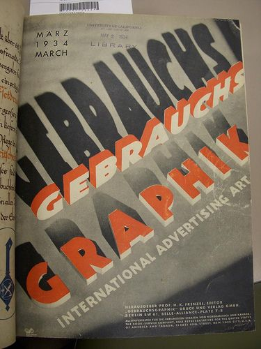 Gebrauchsgraphik 1934 03 Cover