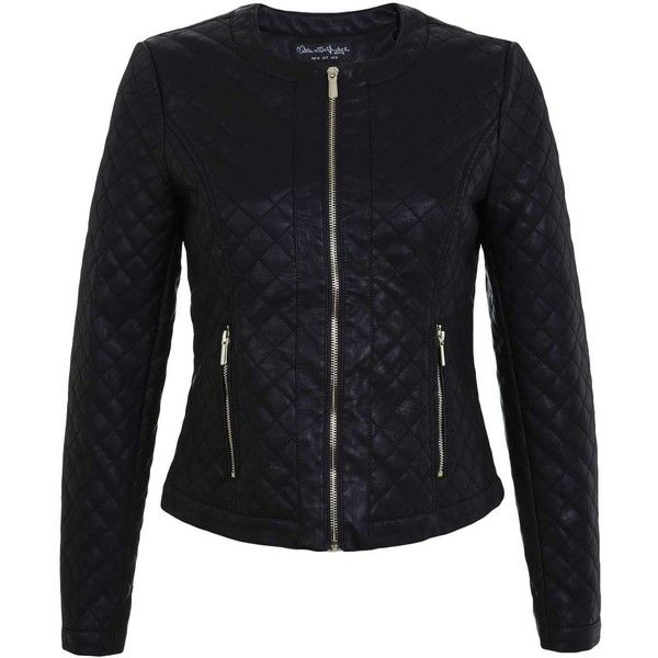 Miss Selfridge Black Quilted Faux Leather Biker Jacket Faux Leather Biker Jacket Black Quilted Jacket Vegan Leather Jacket