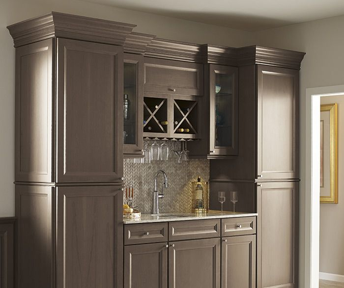 Colonial Dining Rooms Center Hall Colonial Kitchen Room: Russell Cherry Heather Grey