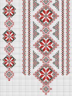 Схемы узоров вышиванок
