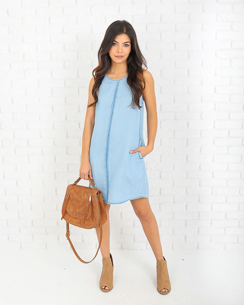 Easy Breezy Pocketed Tencel Dress - FINAL SALE