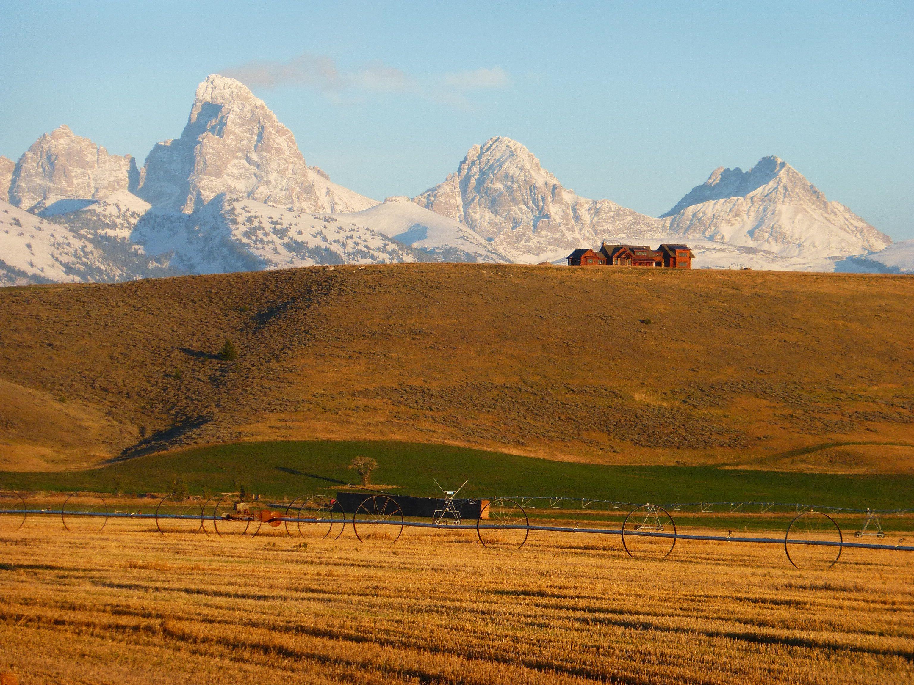 View of the Grand Tetons from Teton Valley, Idaho Rocky