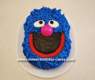 Homemade Grover Birthday Cake This Is For My 33 Year Old Daughter That Absolutely Loves