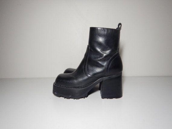 Vtg 90s Steve Madden black leather