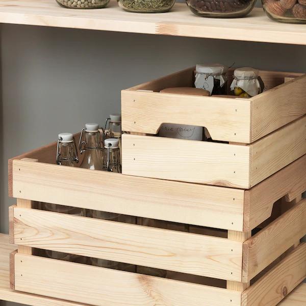 KNAGGLIG Kist, grenen, 23x31x15 cm IKEA nel 2020 | Scatole