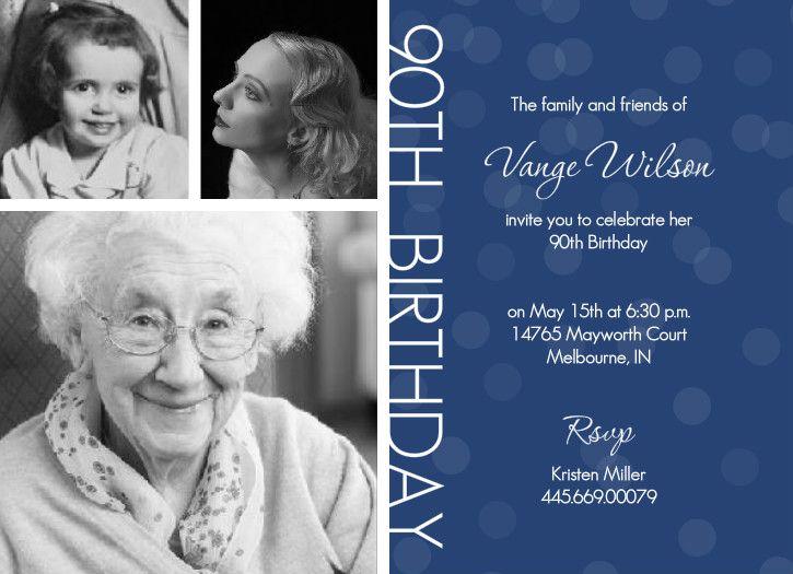 90th birthday party ideas timeline