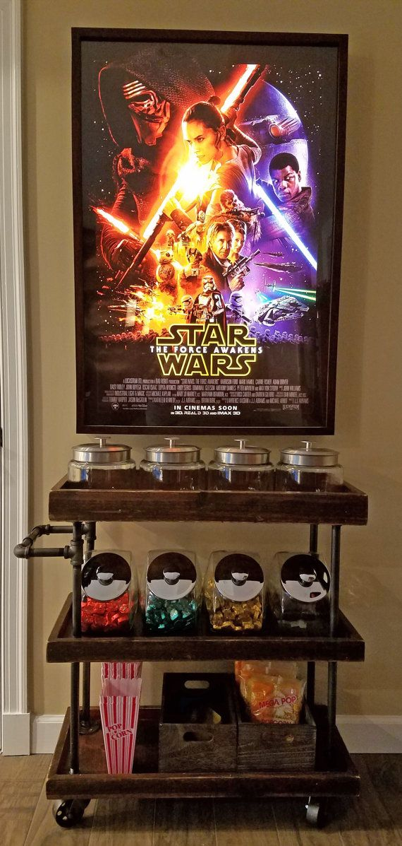 Rustic Home Theater Candy Cart | Furniture to Build | Pinterest ...