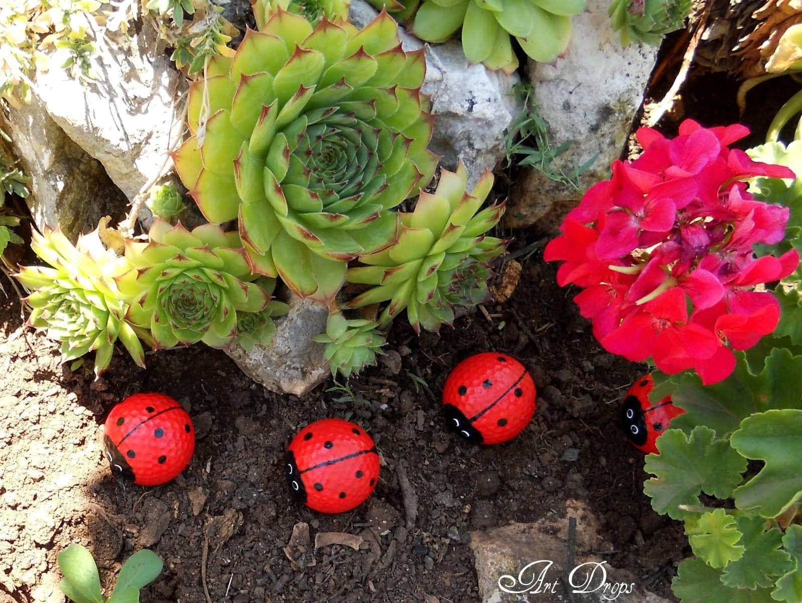 DIY: Happy Ladybug Golf Balls   Crafts and Crafty