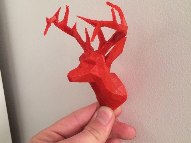 deer gray low poly - photo #16