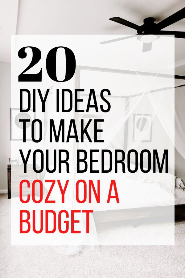 Looking for a cheap way to make over your bedroom decor? Check out these 20 easy DIY ideas to create a relaxing master bedroom without breaking the bank. #diy #bedroomdecor #budgethomedecor #roommakeover