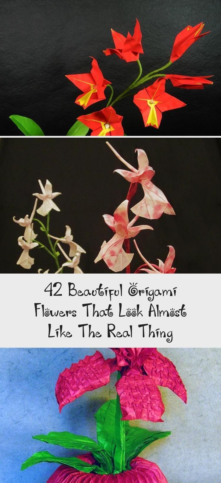 Photo of 42 Wunderschöne Origami-Blumen, die fast wie die wahre Sache aussehen #origamiPatter …