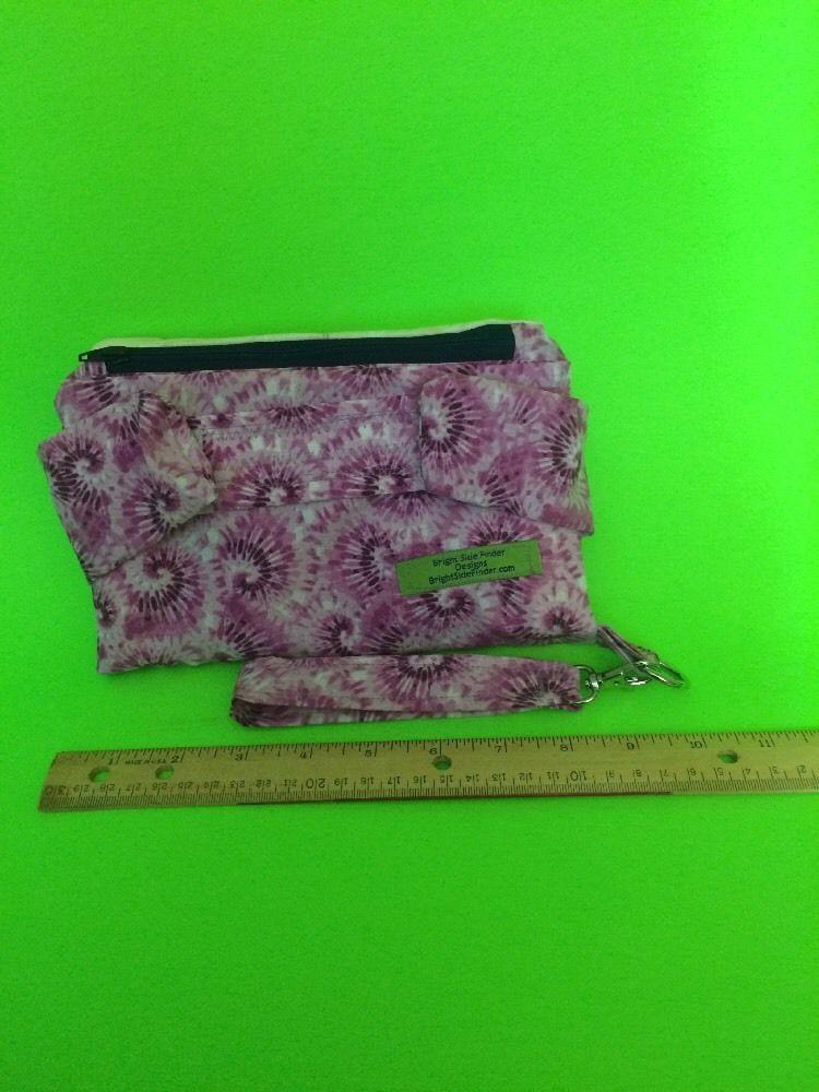 handmade Clutch wallet Tie Dye Purple  Zipper Bag Made In USA America Custom #Handmade