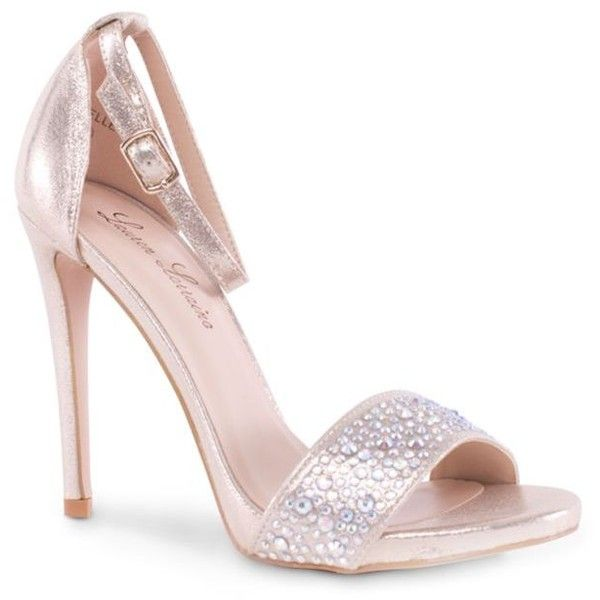 Lauren Lorraine Nude Arielle High Heel Shoe - Women's (80 CAD) ❤ liked on