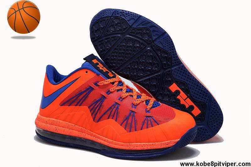 Discount Nike Air Max Lebron 10 Low Black Orange Blue Basketball Shoes Store