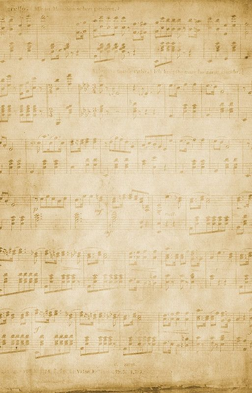 Vintage Sheet Music Distressed Paper Background Iphone