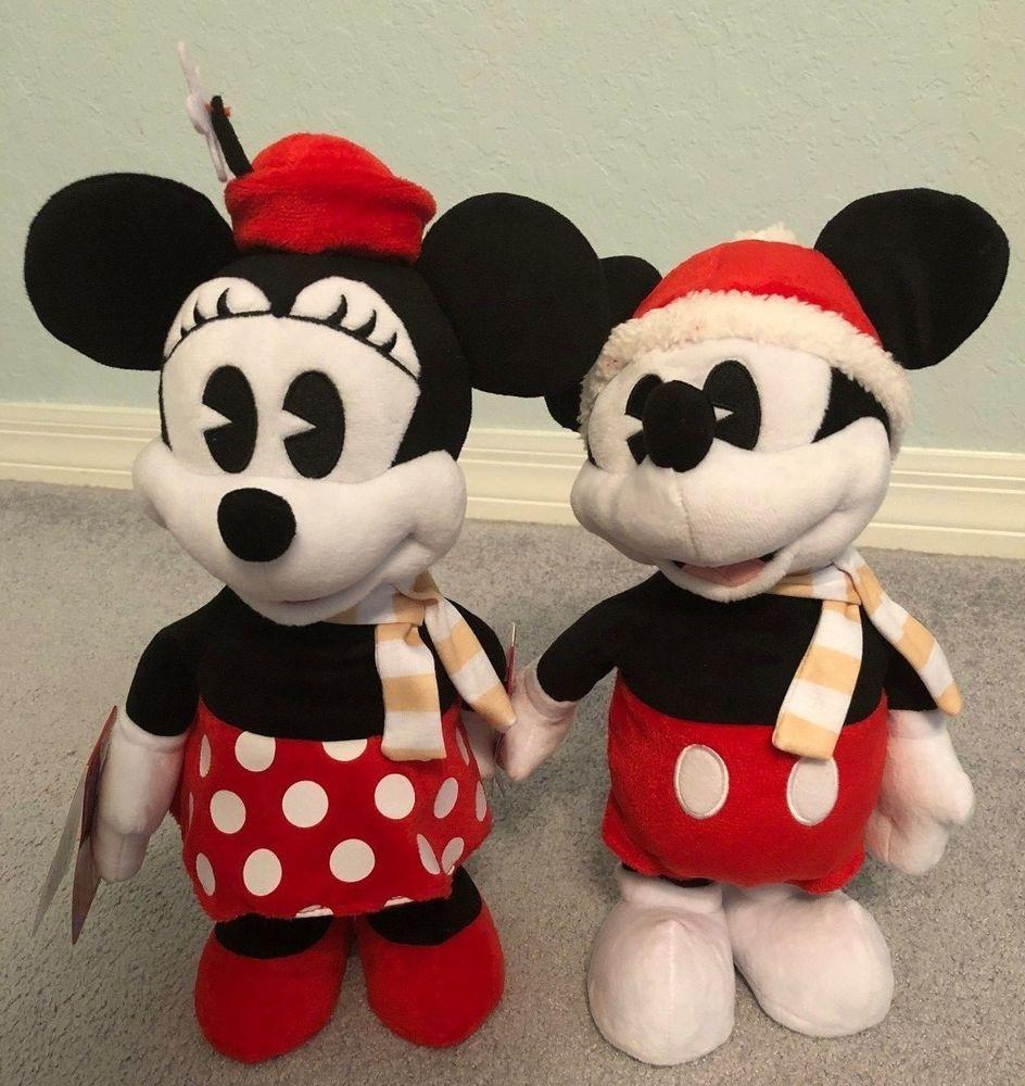 Disney Mickey & Minnie Christmas *NEW* Animated Plush Dances Sings Deck Halls #JustPlay ...