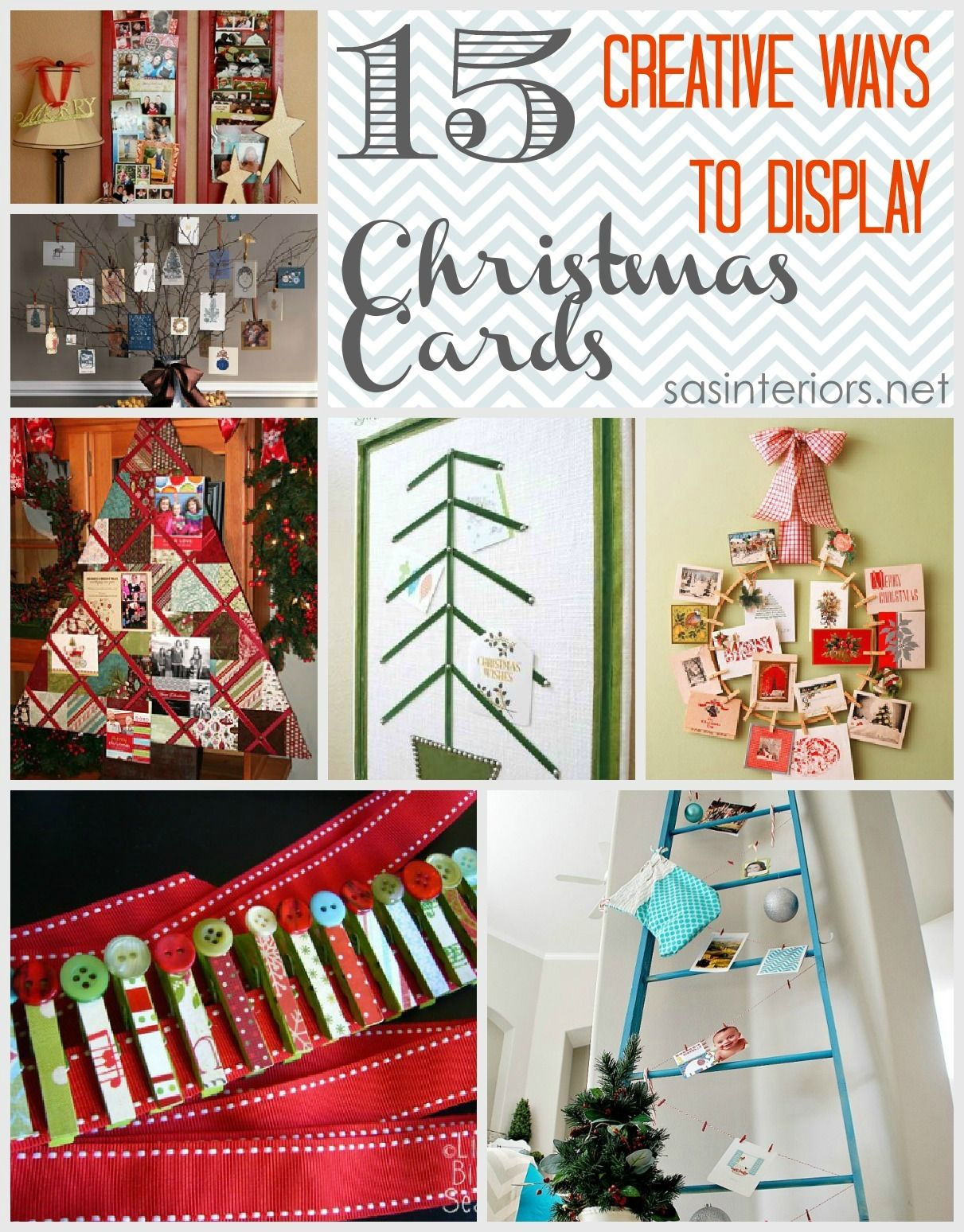 15 creative ways to display christmas cards easy and fun do it 15 creative ways to display christmas cards easy and fun do it yourself creations solutioingenieria Image collections