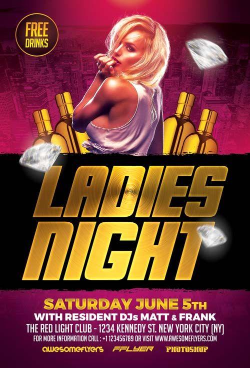 Ladies Night Flyer Template - http\/\/ffflyer\/ladies-night - movie night flyer template