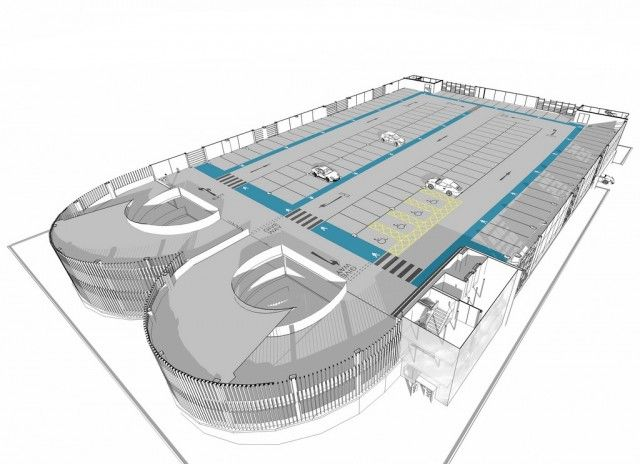 Hypostyle architects multi storey car park for Auto floor plan software