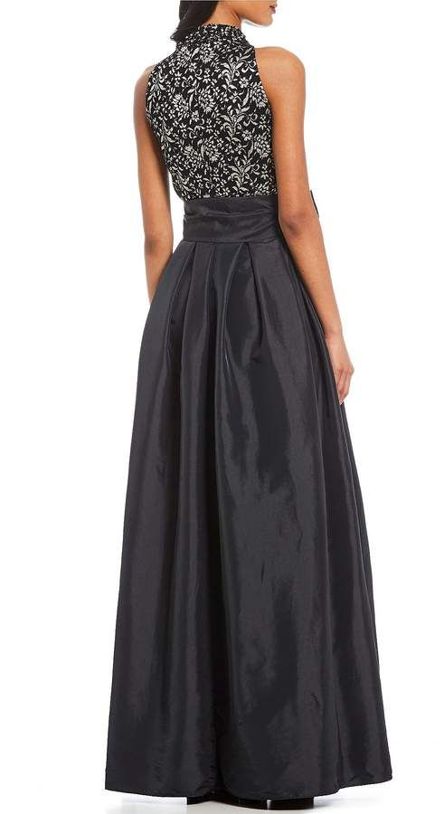626df865a965a Jessica Howard Lace Halter Sleeveless Bow Ballgown #Lace#Howard#Jessica