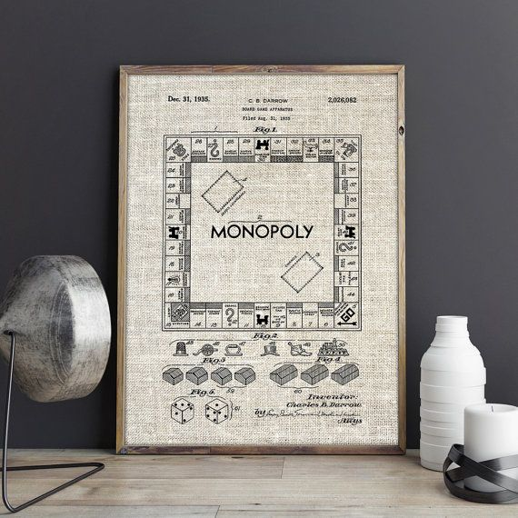 Monopoly Print, Trading Game Print, Board Game Decor, Gaming Wall ...