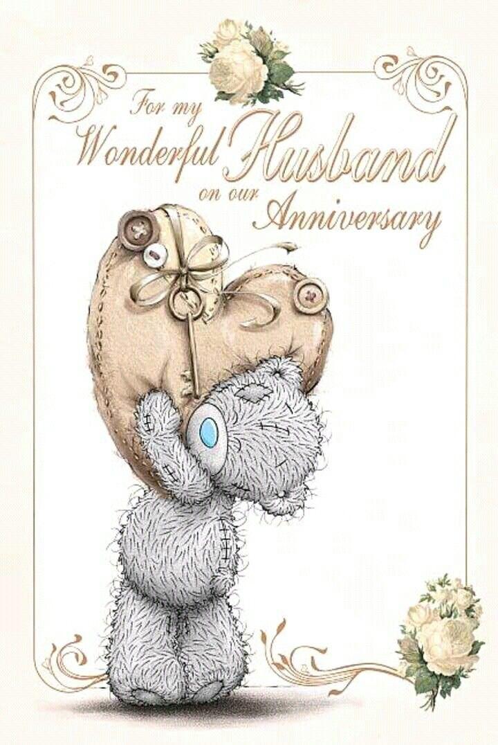 Tatty Teddy Anniversary Greetings To My Husband