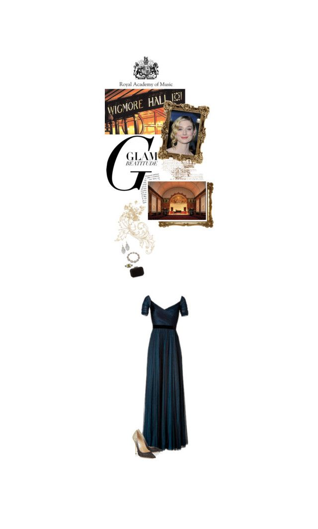 """(V) Attends the Royal Academy of Music Patrons' Award Recital at Wigmore Hall"" by immortal-longings ❤ liked on Polyvore featuring Jenny Packham, Jimmy Choo and Tiffany & Co."