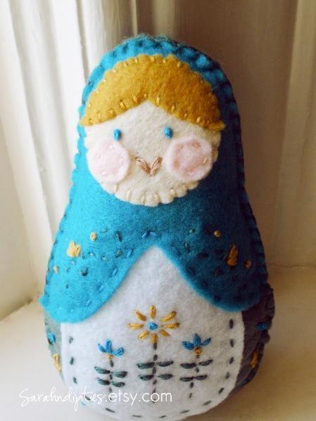 Felt Matryoshka Dolls PATTERN!!! craftsy com | Felt Things
