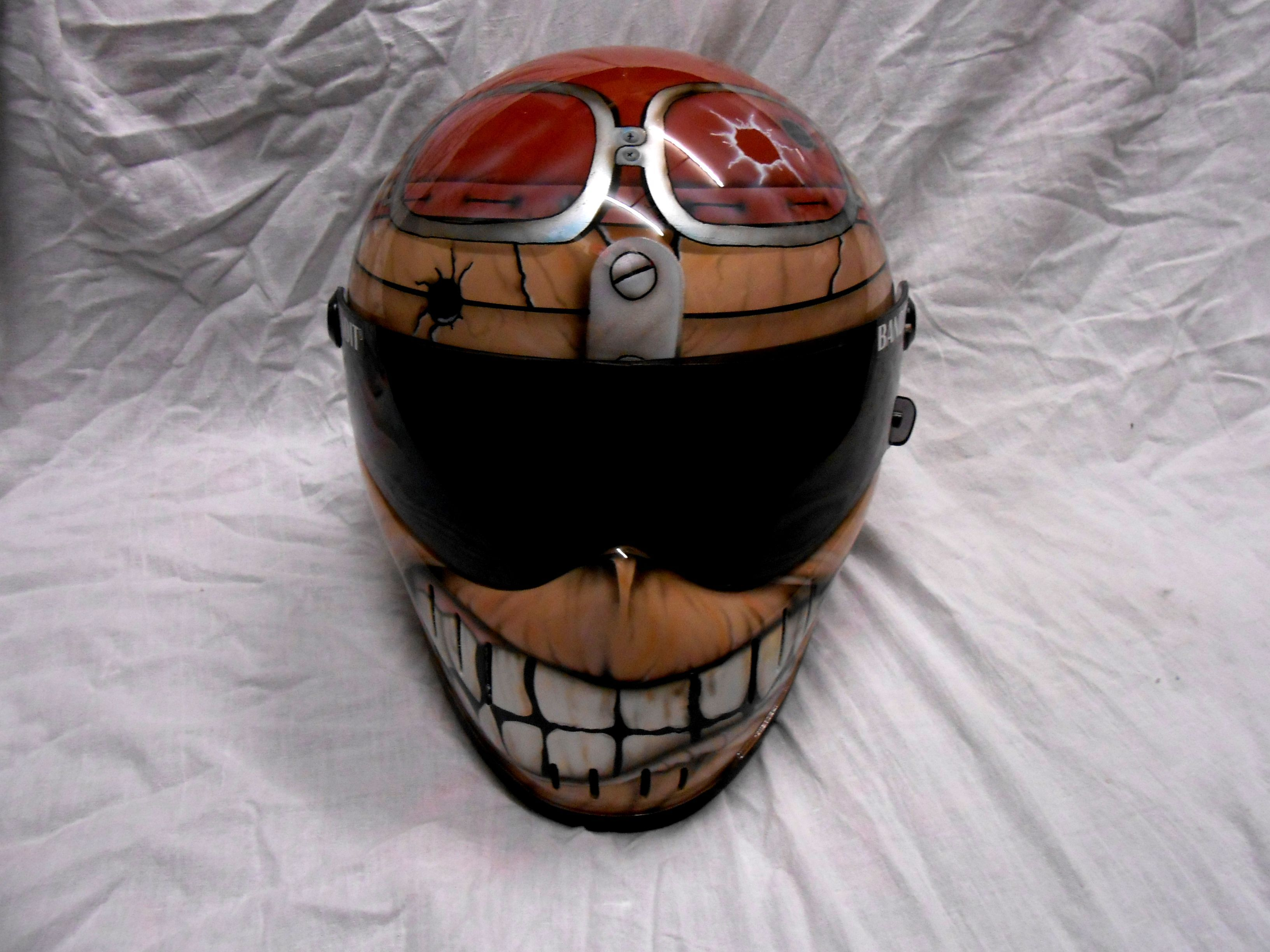 Iron Maiden Custom Helmet Casque Eddie Helmets Goggles Custom
