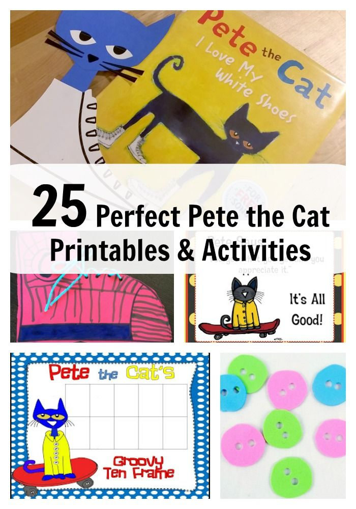 Pete the Cat Printables and Activities Activities